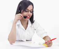 Female executive telemarketing Royalty Free Stock Photos