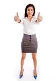 Female executive with thumbs up Stock Photos