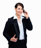 Female executive using cellphone - Copy space Stock Photos