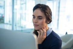 Female executive working on computer Stock Photos
