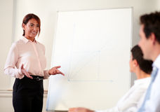 Female executive working on her presentation Stock Image