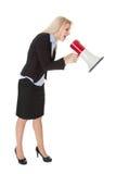 Female executive yelling Royalty Free Stock Photography