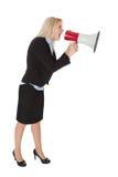 Female executive yelling Stock Photos
