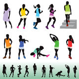 Female exercising for healthy living Stock Photography