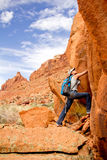 Female explorer at the desert Stock Photography