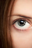 Female eye. Looking straight up Royalty Free Stock Photography