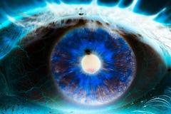 Free Female Eye Ball Iris Close Up Green Negative Art Style Stock Image - 170104961