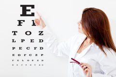 Female eye doctor Stock Photo