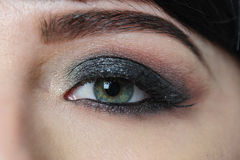 Female eye and eyebrow with makeup close-up Stock Photo
