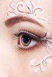 Female eye with fase art makeup Royalty Free Stock Photos