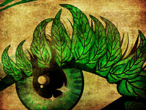 Spring eye with leaves Stock Photos