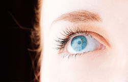 Female eye with long eyelashes Royalty Free Stock Photos