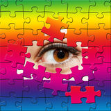 Puzzle eye Royalty Free Stock Images