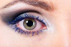 Female eye macro Stock Images