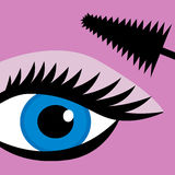 Female eye mascara Stock Images