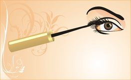 Female eye and mascara. Card Royalty Free Stock Photo