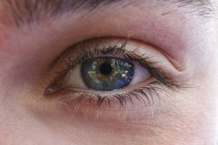 Female eye and pupil. Original photo by female eye royalty free stock photos