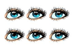 Female eye set glare in the pupil Stock Images