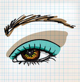 Female eye sketch illustration Stock Photography