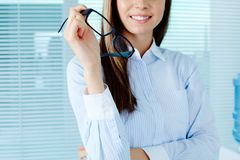 Female with eyeglasses Stock Photo