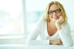 Female in eyeglasses Royalty Free Stock Photos