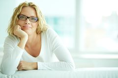 Female in eyeglasses Stock Photo