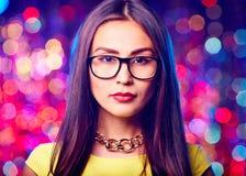 Female in eyeglasses Royalty Free Stock Photo