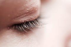 Female eyelashes in black and white stock photos