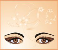 Female eyes. Background for card Stock Photography
