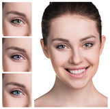 Female eyes in color contact lenses Royalty Free Stock Image