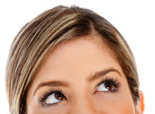 Female eyes looking up Royalty Free Stock Photos