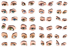 Female eyes showing different Expressions Royalty Free Stock Photo