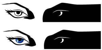 Female eyes vector Stock Images