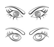 Female eyes vector illustrations Stock Photo