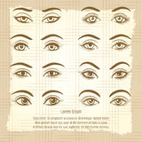 Female eyes vintage poster design Royalty Free Stock Photos