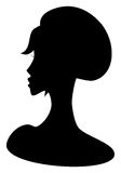 Female face. Abstract vector picture of face of beautiful girl vector illustration