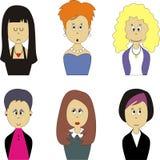 Female face avatar set 001 Stock Image