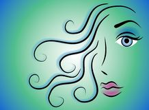Female Face Beauty Clip Art 2 Stock Photography
