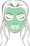 Female face with beauty mask Stock Photos
