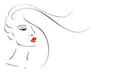Female face. stock illustration