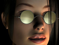 Female face with glasses Royalty Free Stock Image