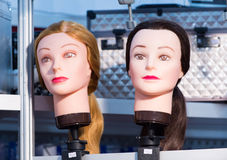 Female face mannequins Stock Photography