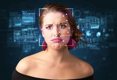 Face Recognition System Royalty Free Stock Image
