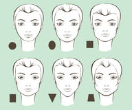 Female face shapes Royalty Free Stock Photos