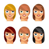 Female faces Royalty Free Stock Photography