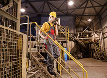 Female factory worker Royalty Free Stock Photography