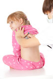 Female family doctor exam little girl Royalty Free Stock Photography