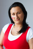 Female fan portrait of Polish team Royalty Free Stock Photography