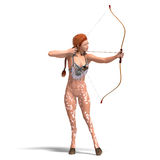 Female fantasy deer with bow Stock Images