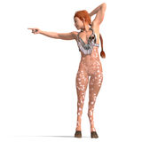 Female fantasy deer creature Stock Photography